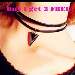 Jewelry - Gothic black triangle pendant Choker Neck16